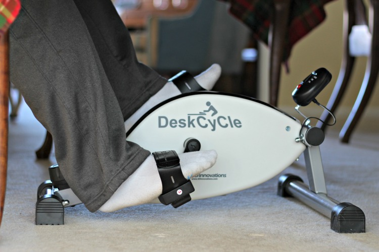 The DeskCycle fits under our dining room table