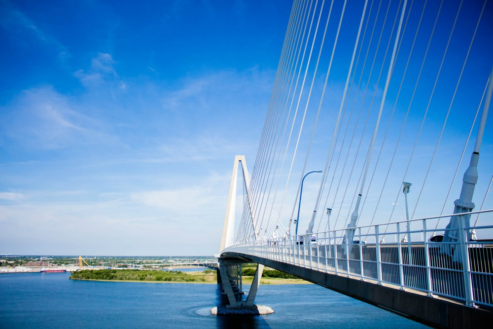 Charleston date ideas: Cross the Ravenel Bridge