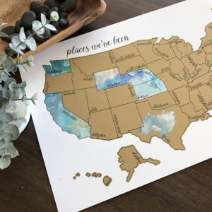 "Etsy find: ""Where We've Been"" Scratch Off Map USA"