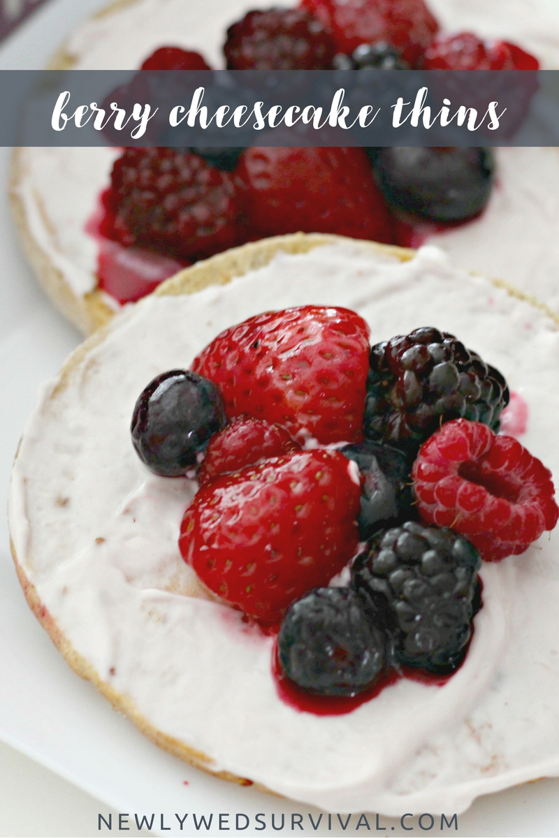 Berry Cheesecake Thins & other Weight Watchers sweet treat ideas
