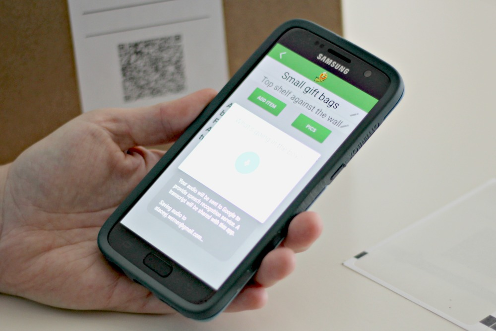 Step Five: Scan the Label and Add Items to App