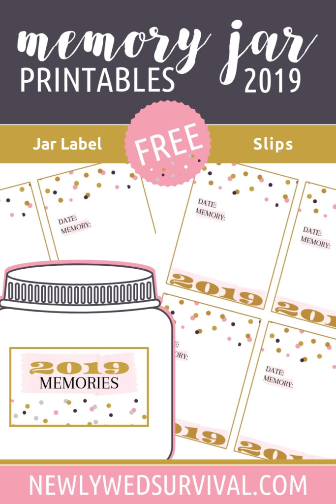 2019 Free Printable Memory Jar label and slips