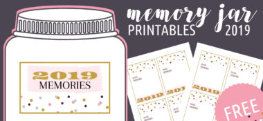2019 Free Printable Memory Jar label and slips