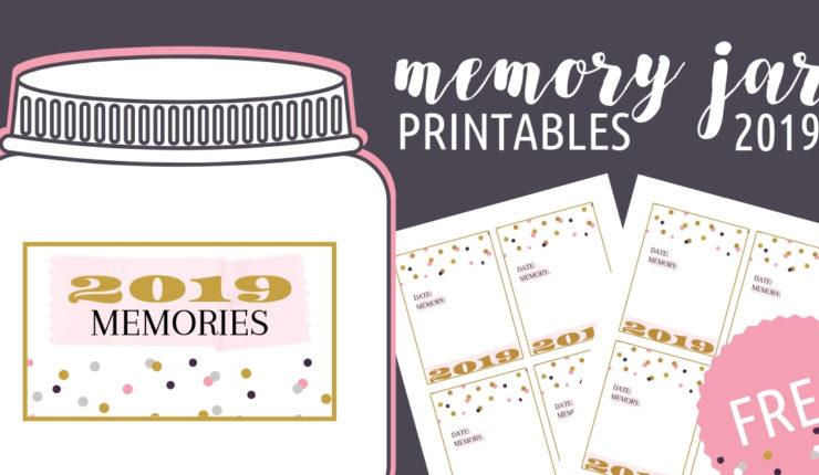 2019 Memory Jar Printables for Your New Year's Eve Date Night In