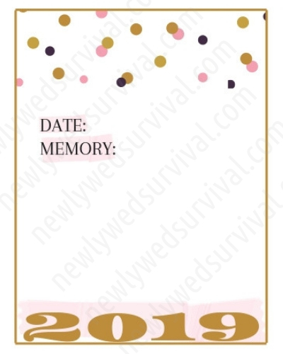 photograph about Date Night Jar Printable titled 2019 Memory Jar Printables for Your Fresh new Several years Eve Day Night time Inside of