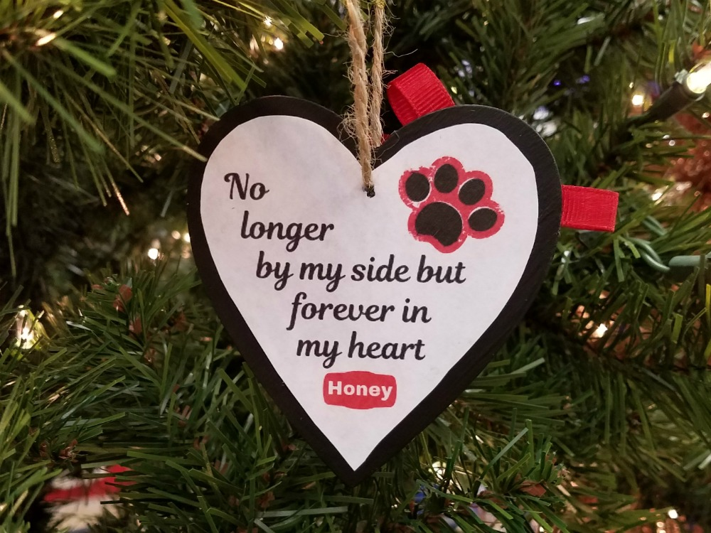 No longer by my side but forever in my heart ornament