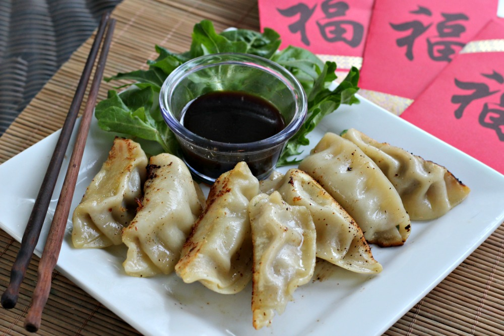 Ling Ling Pork and Vegetable Potstickers for Chinese New Year