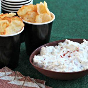 Easy Game Day Dip and RITZ Crisp & Thins