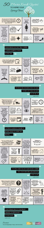Infographic: 50 Marie Kondo Quotes