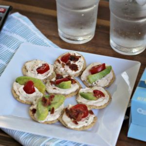 Bacon Tomato and Avocado Bites (BTA Bites) for date night in