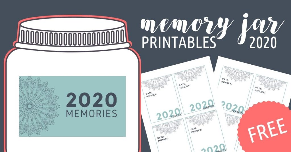 2020 Memory Jar with free printable label and slips